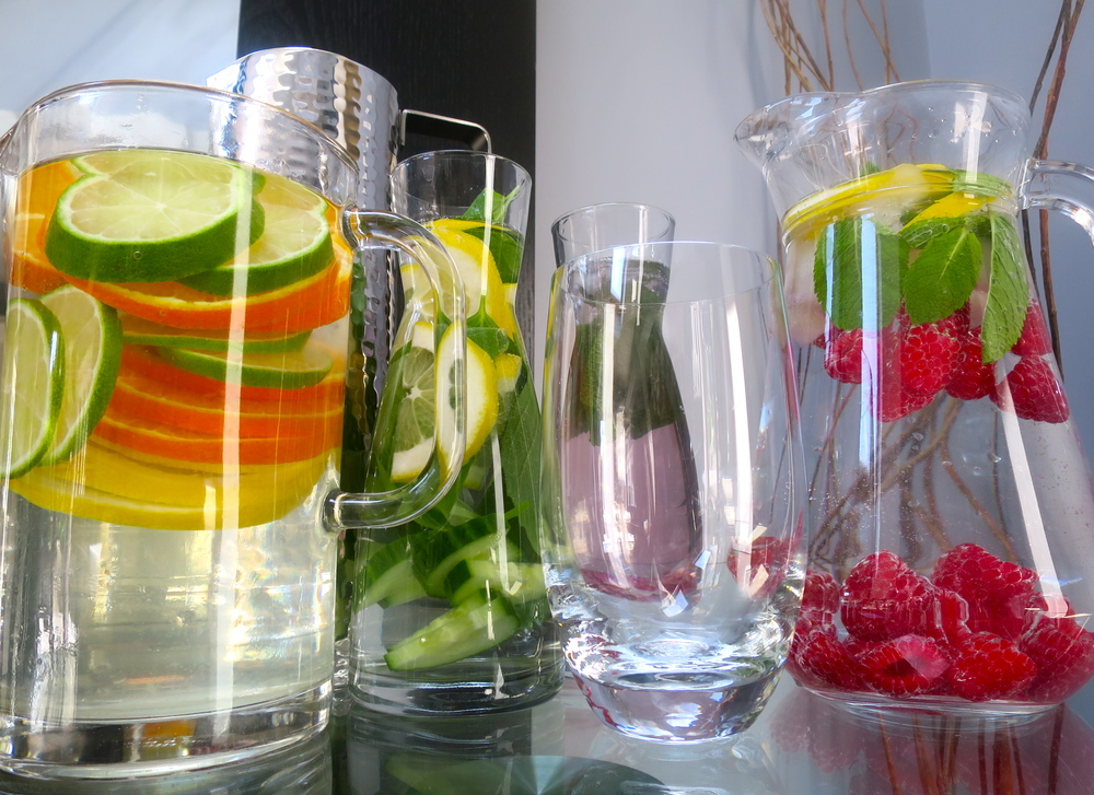The pleasures of fruit infused water!