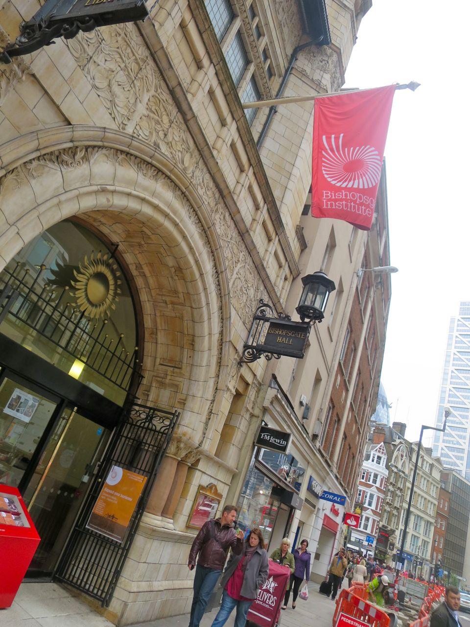 The Bishopsgate Institute.