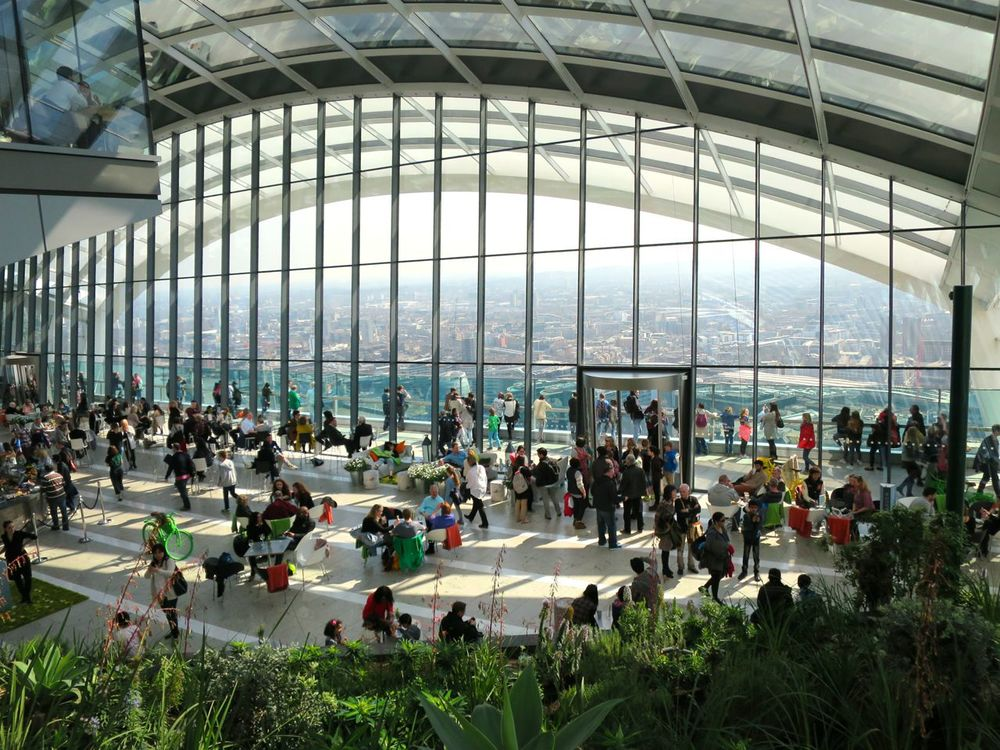 A Moments Break In The Sky Garden London The What Now