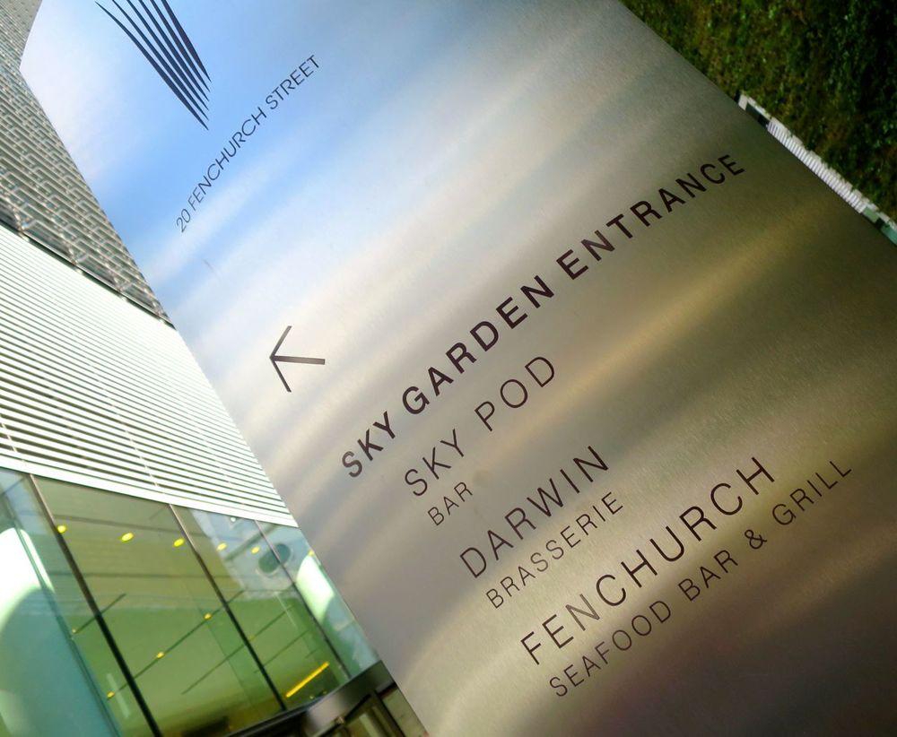 Sky Garden Exterior Sign