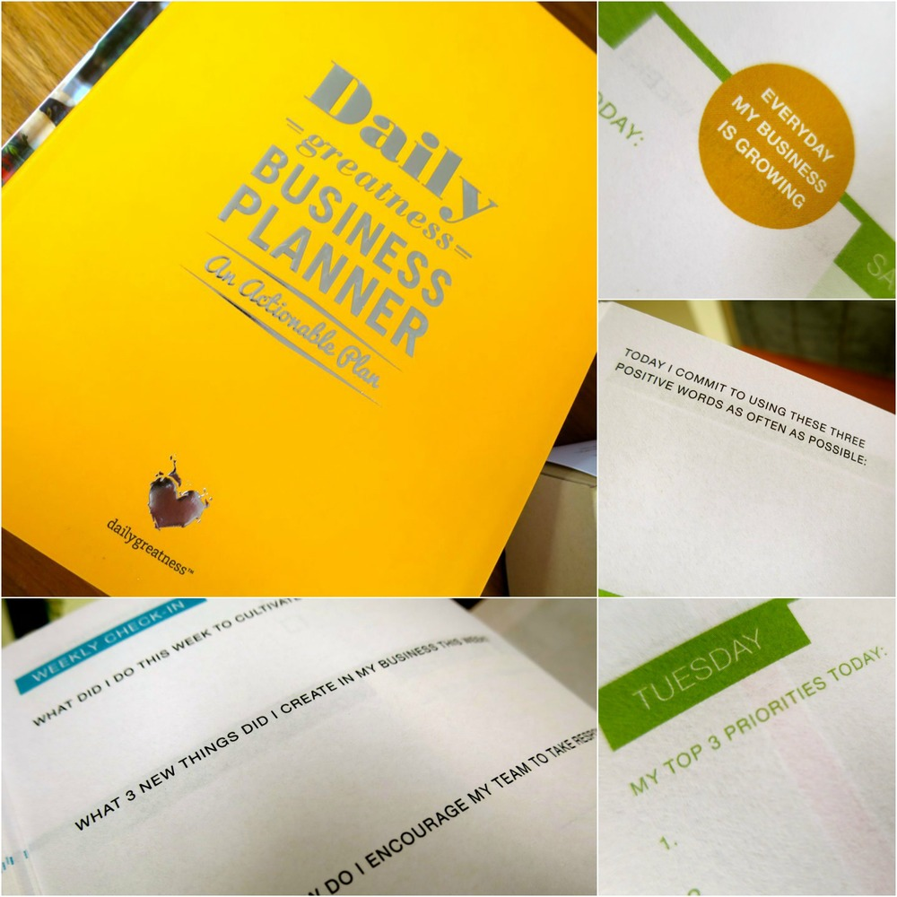 Daily Greatness Business Planner