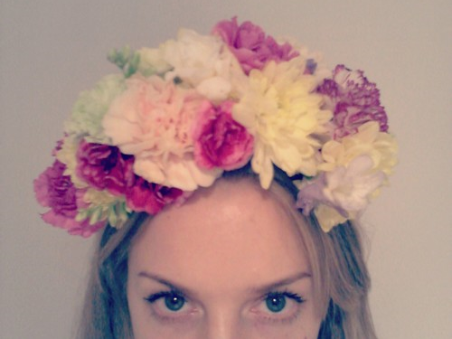 Make a Flower Crown with Rose & Wolf