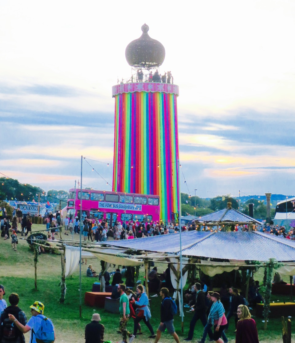 Glastonbury Festival Ribbon Tower