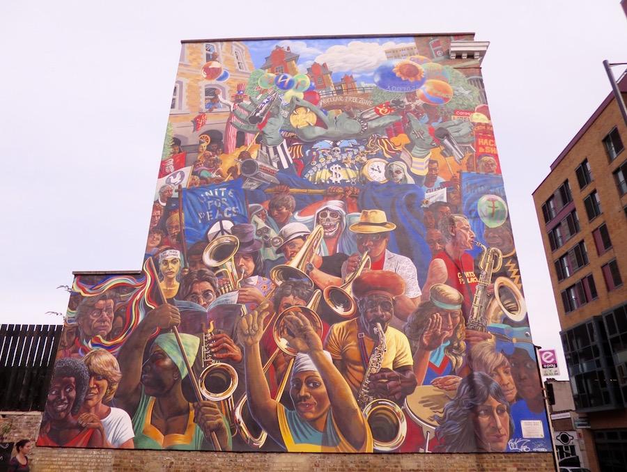 Hackney Peace Carnival Street Mural