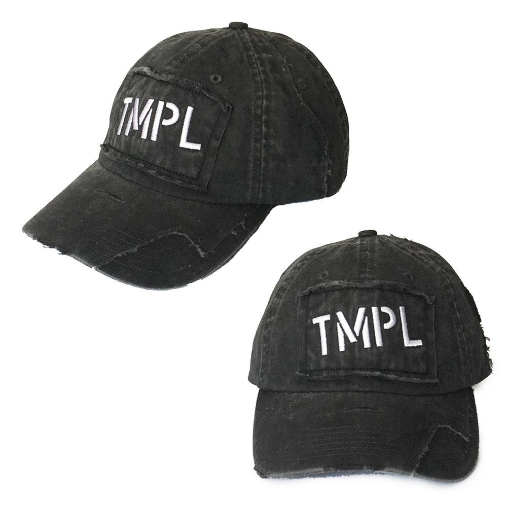 TMPL text distressed hat.jpg