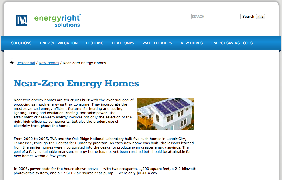 TVA-Near-Zero-Energy-Homes