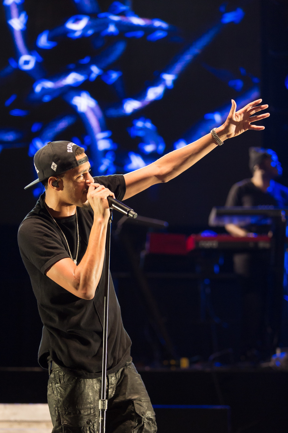 Photo of J. Cole captured at DAR Constitution Hall on January 30, 2014.
