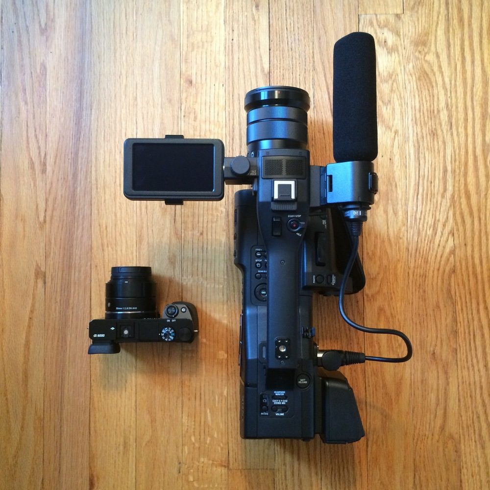 My Sony a6000 placed next to the Sony NEX-EA50M, for size comparison.