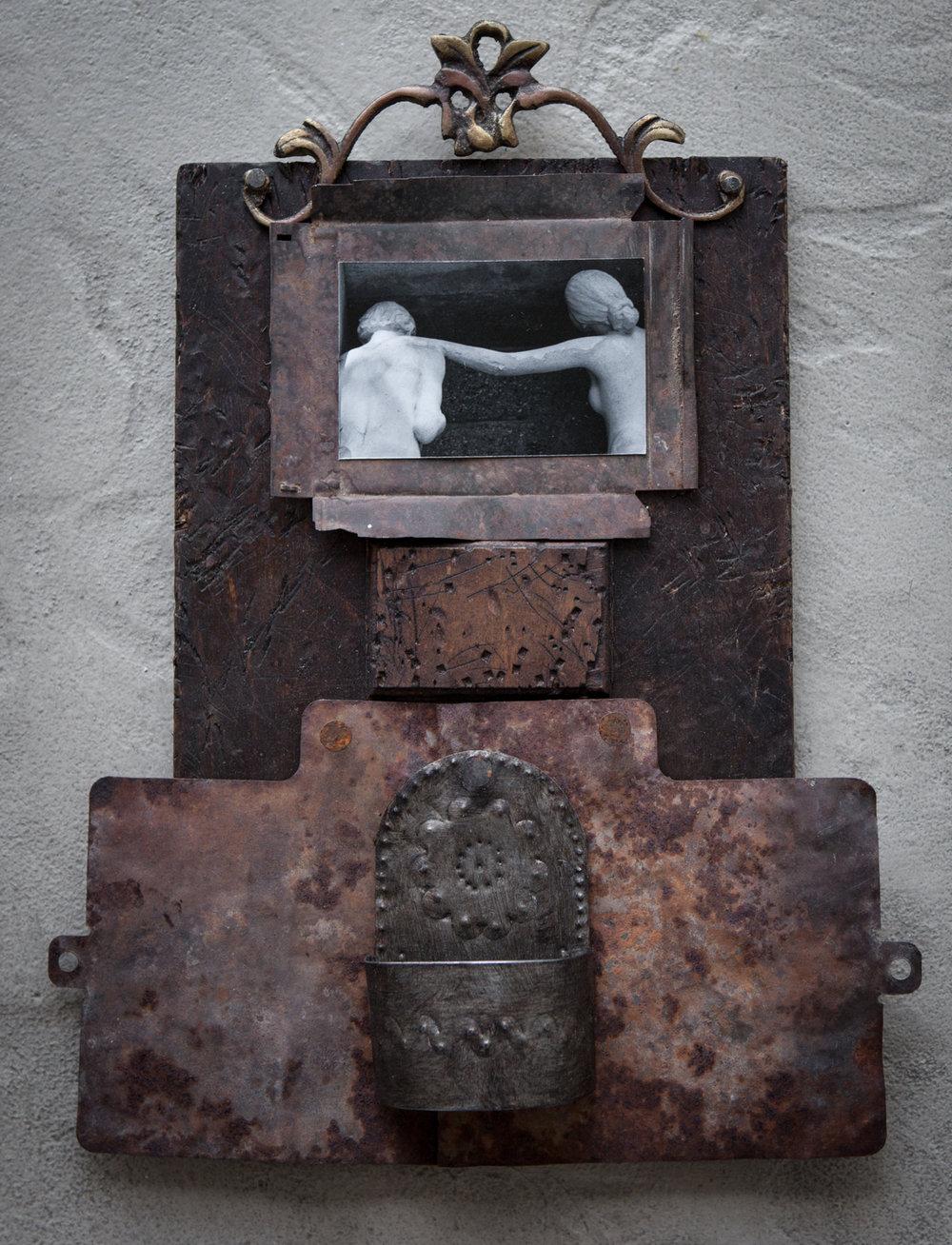 photograph, metal, wood