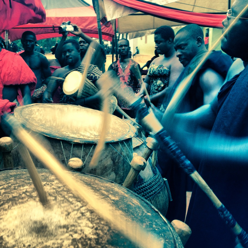 Flying drumsticks on Ghanaian Independence Day