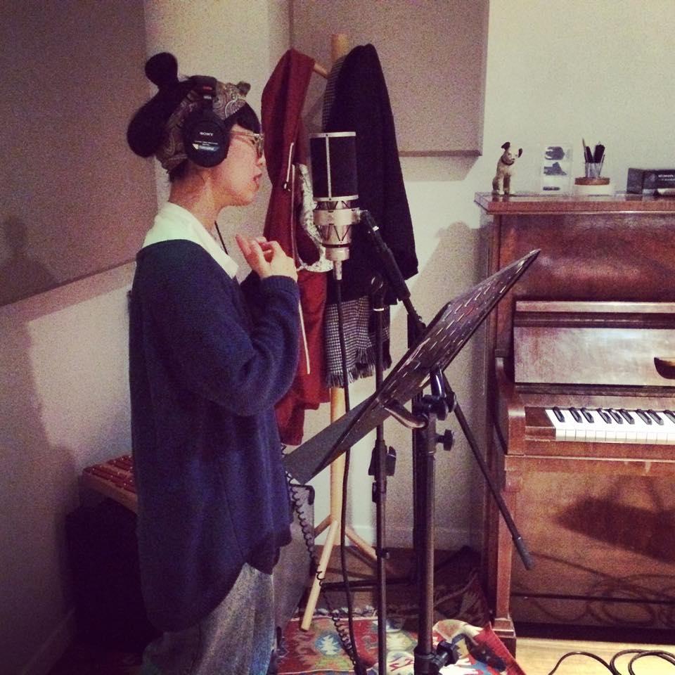 Yuri Kono recording at One Good Lied a Day