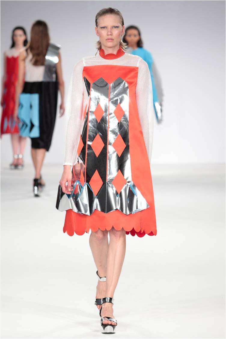 Lavinia Cadar - Commedia dell'Arte AW1516 printed vinyl dress.jpg