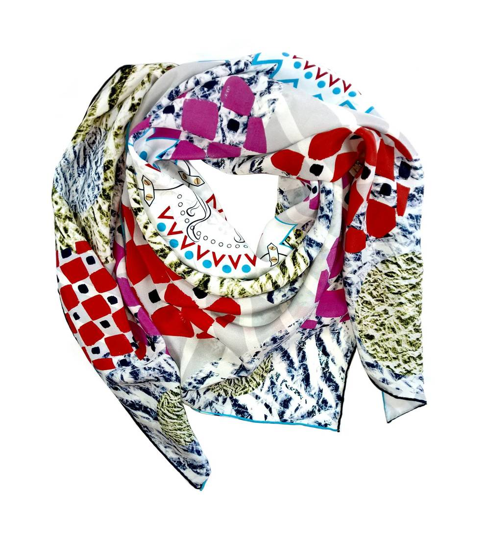 Lavinia Cadar: POP Commedia | Accessories,Accessories > Scarves -  Hiphunters Shop