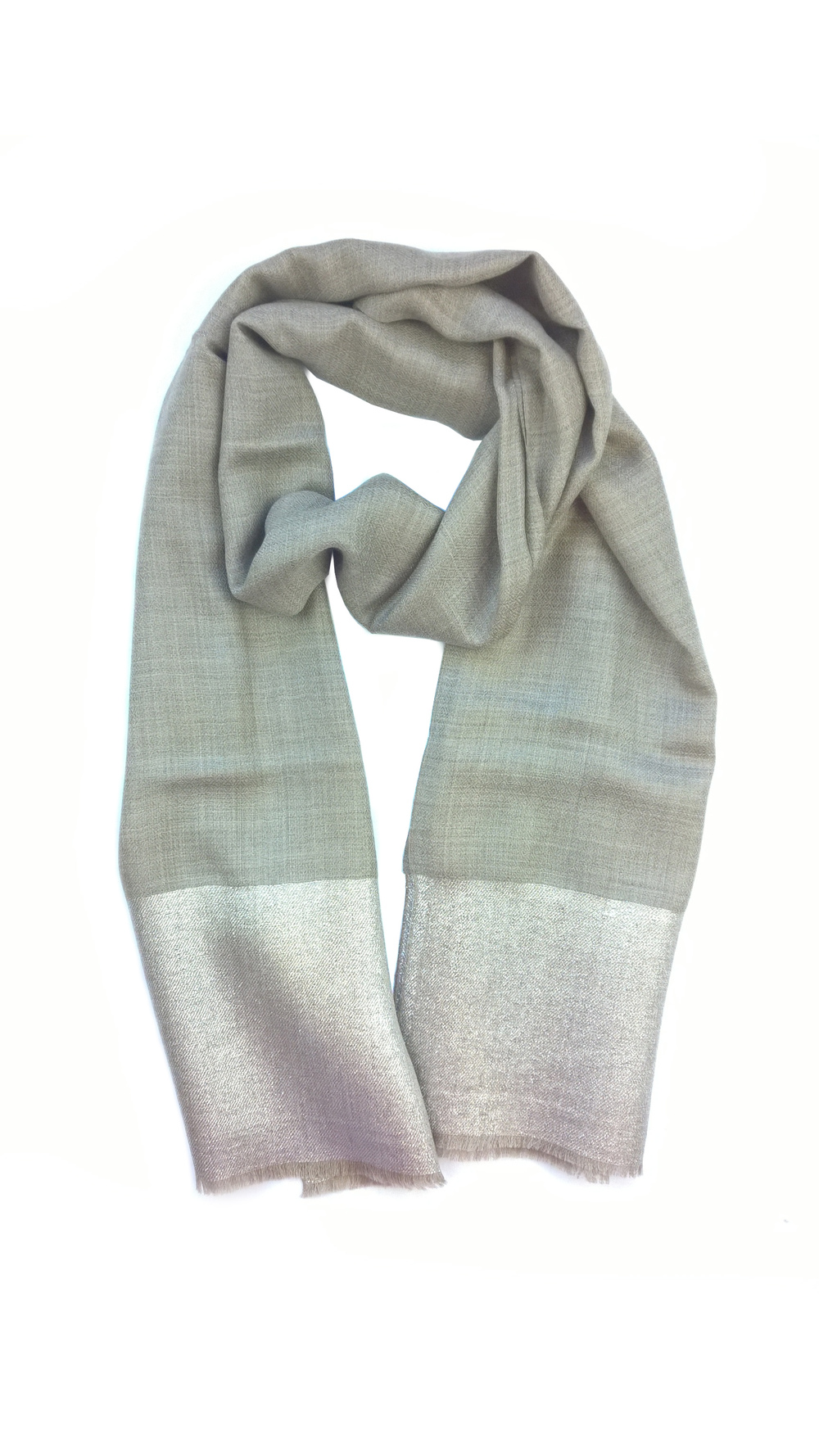 Lavinia Cadar: Silver Lustrate | Accessories,Accessories > Scarves -  Hiphunters Shop