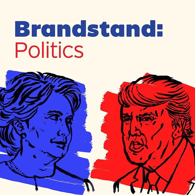 My branding program is putting together an event where four incredible speakers are discussing branding's role in politics. Nov. 18th @brandstandtalks brandstandtalks.com Join us, won't you?