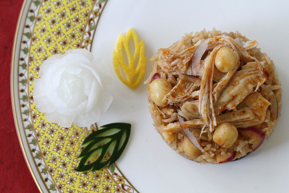 Massaman Curry Fried Rice with Turkey Leftovers
