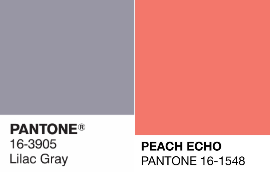 Pantone Lilac Grey and Peach Echo @Pantone http://www.pantone.com/