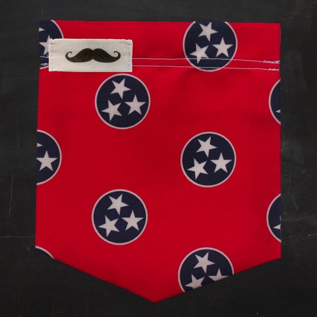 Did we mention we have a new TN pocket? Exclusively available at http://www.campusstache.com/mister/the-tennessee #StacheOn #The615 #Nashville #Tennessee #Pockets #Mustache #StateFlag #TheSouth #SmallBusiness #ShopLocal #Handcrafted #MadeInUSA