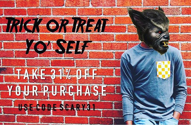 Trick or treat yo' self with 31% off of your entire purchase with coupon code SCARY31. #SatcheOn #TreatYoSelf #Halloween #Sale #MadeInUSA #Nashville #Mustache #SmallBusiness #ShopLocal #TrickOrTreat #Tennessee #VFL #GBO #Fall