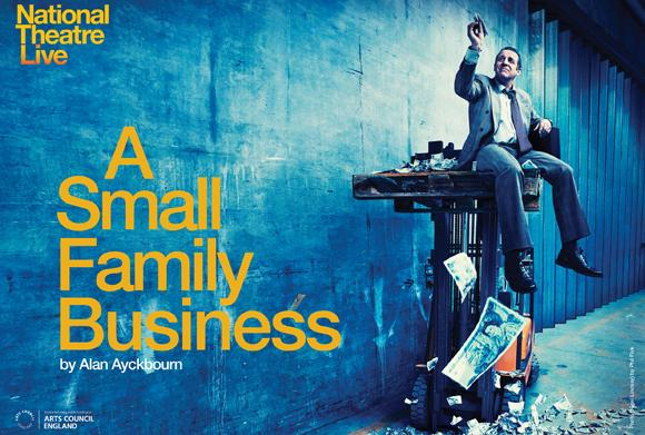 A Small Family Business - National Theatre Live  Thursday, 26th June 2014   Doors Open: 6.30pm  Show Starts at: 7.00pm    Prices: In Advance £10.00  On the door £12.00    NOTE - THIS IS PRE-RECORDED CINEMA SCREENING (ORIGINALLY BROADCAST 12th JUNE) FROM LONDON'S NATIONAL THEATRE  National Theatre Live is a groundbreaking initiative to broadcast the best of British theatre to cinemas around the world. It has been a huge hit in the UK, and will be coming to Selby Town Hall for a new season this spring. A number of productions from London's National Theatre and the West End will be broadcast live, via satellite, to the venue alongside encore screenings.  A SMALL FAMILY BUSINESS  A riotous exposure of entrepreneurial greed by Olivier Award-winning playwright Alan Ayckbourn (Bedroom Farce, A Chorus of Disapproval). A Small Family Business returns to the National Theatre for the first time since its celebrated premiere in 1987, when it won the Evening Standard Award for Best New Play.  Jack McCracken: a man of principle in a corrupt world. But not for long. Moments after taking over his father-in-law's business he's approached by a private detective armed with some compromising information. Jack's integrity fades away as he discovers his extended family to be thieves and adulterers, looting the business from their suburban homes. Rampant self-interest takes over and comic hysteria builds to a macabre climax.      http://www.ntlive.com