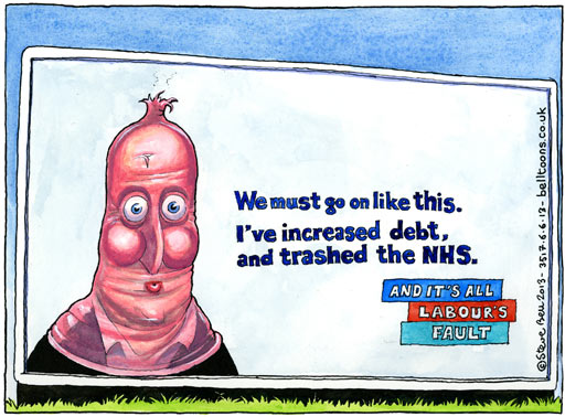 David Cameron cannot blame Labour for his destruction of the NHS