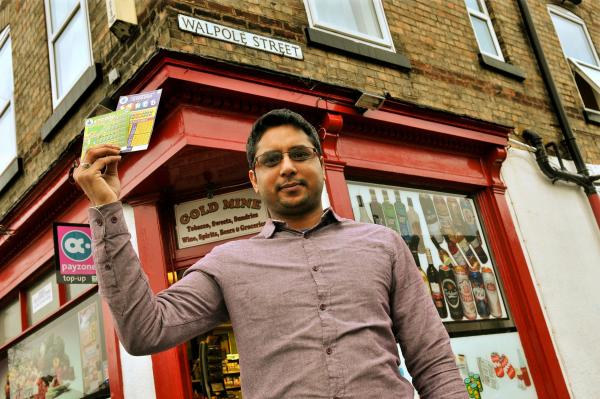 Muhbab Ahmed outside his shop in Haxby Road