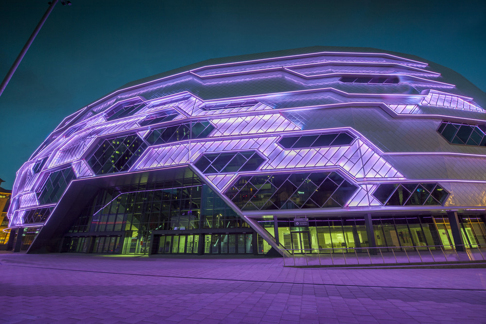 European operators of the First Direct Arena in Leeds have stated the flagship, 13,500 arena is now a lead venue in Europe and bringing 25m to the local economy in Leeds. The European SMG director has stated that the Leeds Arena should make the top 10 arenas in the world in 2016/17