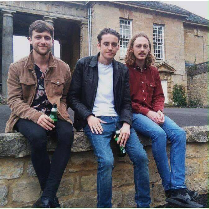 Fighting Caravans winners of the Futuresound competition enjoy a cool bottle of Tuborg ( One of the sponsors of the Festival ) relaxed ahead of their debut Reading and Leeds. Featuring   Daniel Clark,  Roff James,  Cinnamon Lees,  Ali Fletcher   Josh Hagzenberg