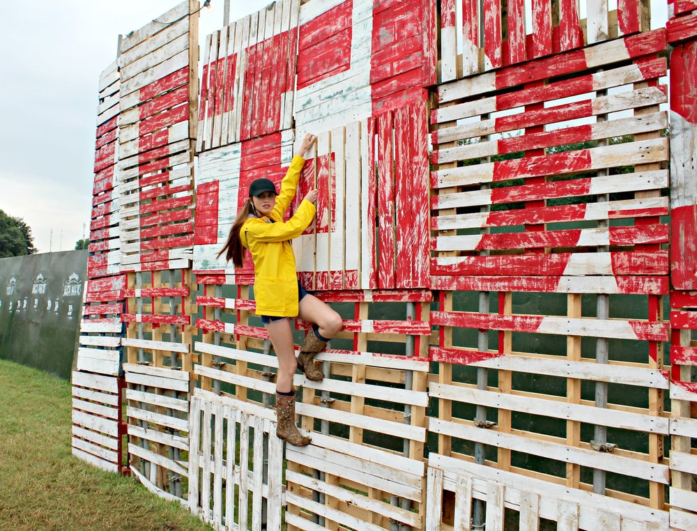 The Leeds Festival crates, a perfect place for a picture or two (Image Sean Brown)
