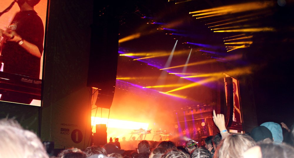 Friday evening saw a spectacular light-show as Disclosure played their top hits including Latch, You & Me and F for You.