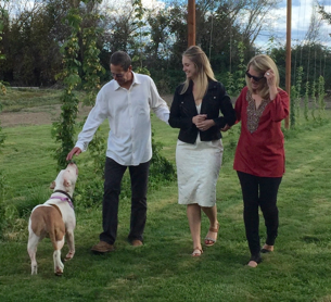 Nellie also loves to participate in all family events, even wedding rehearsals!