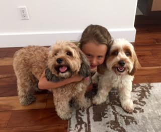 Nellie, her human sister, and Ruby … three peas in a pod!
