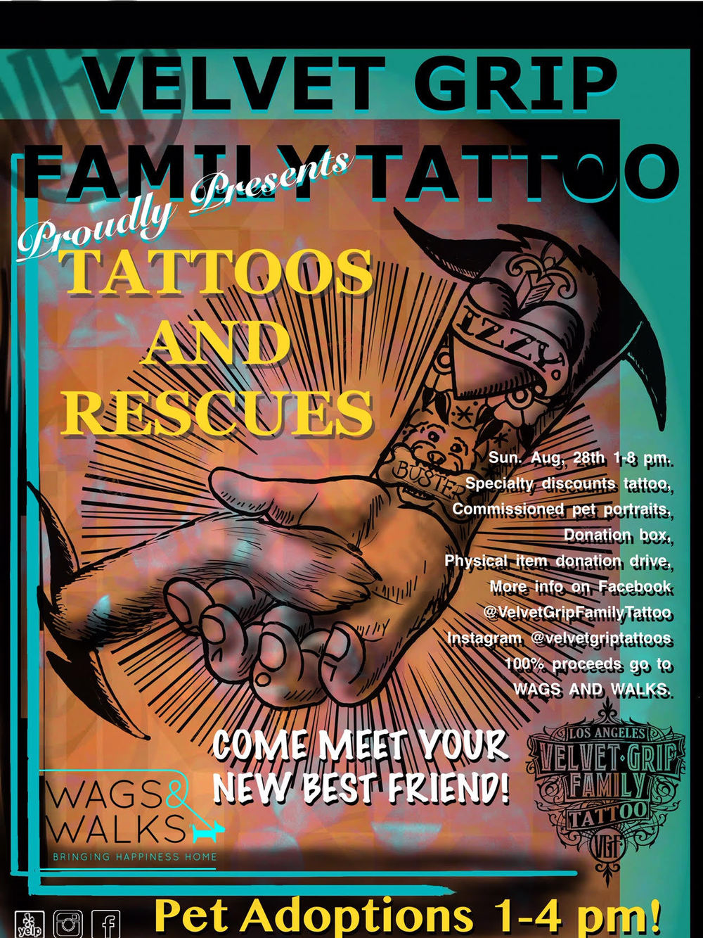 tattoos rescue wags and walks