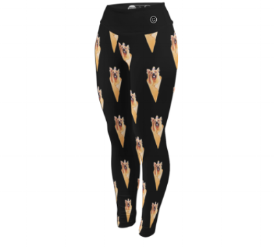 """Your Dog is the Scoop""  leggings"