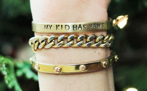 Brass Bracelets: My Kid Has Paws Cuff Bracelet// Wear Your Pride Collection