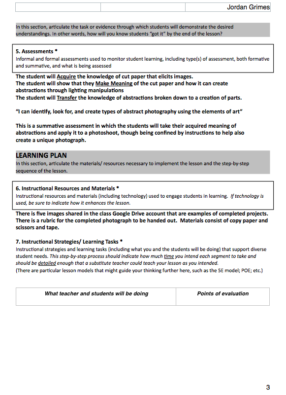 Differentiated Instruction Template 7 Free Word Pdf Document