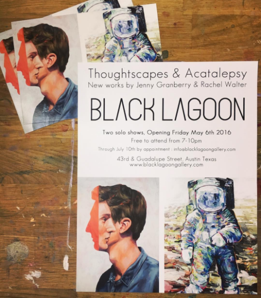 In May my work was displayed at the Black Lagoon Gallery. The painting that was on the postcard sold!