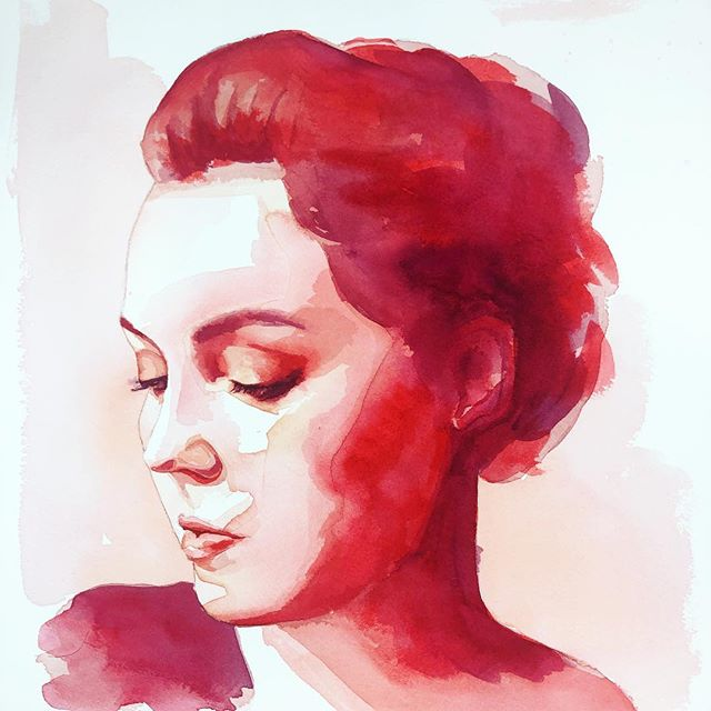 When you're inspired by @nickvrunge 's workshop AND the @pantone 2019 color of the year  #art #painting #watercolor #livingcoral #pantone #qorwatercolors