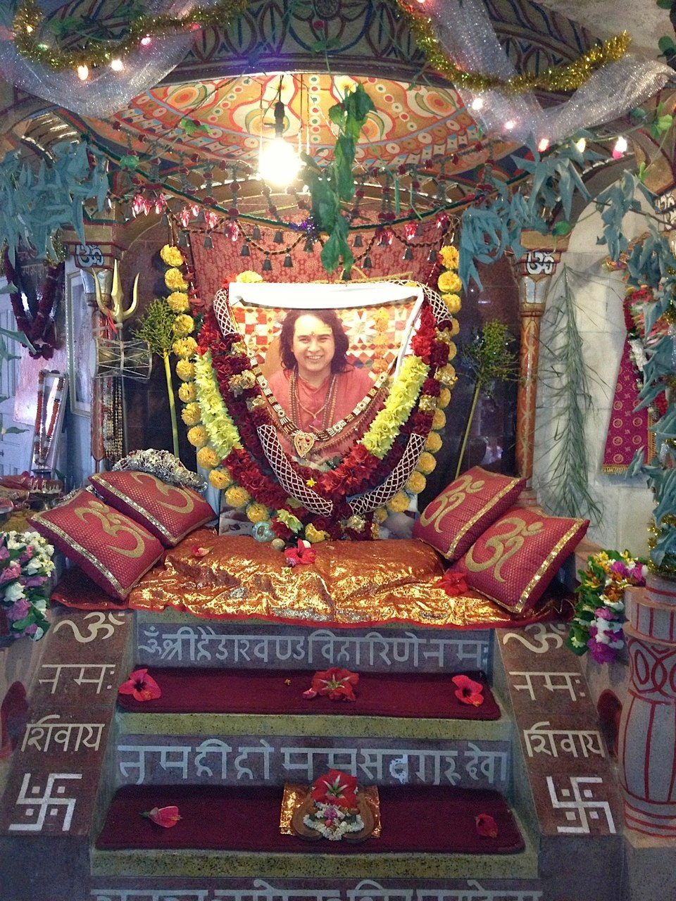 Babaji's chair in the main temple