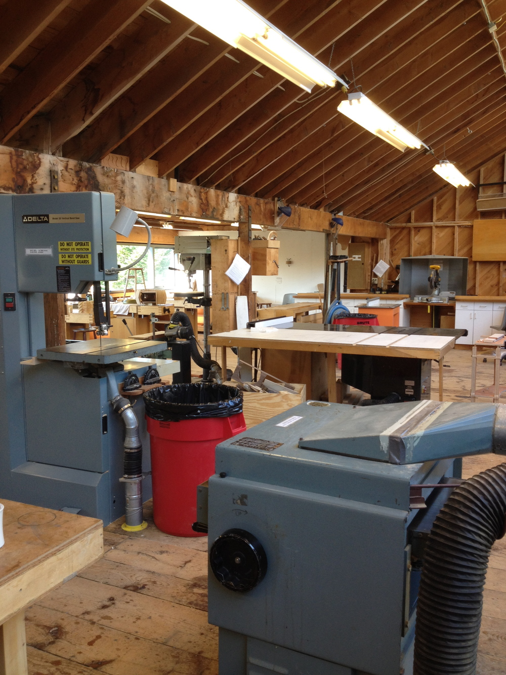 The woodworking studio at Haystack Mountain School of Crafts