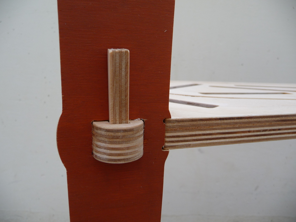 A detail of the Nook table Joinery