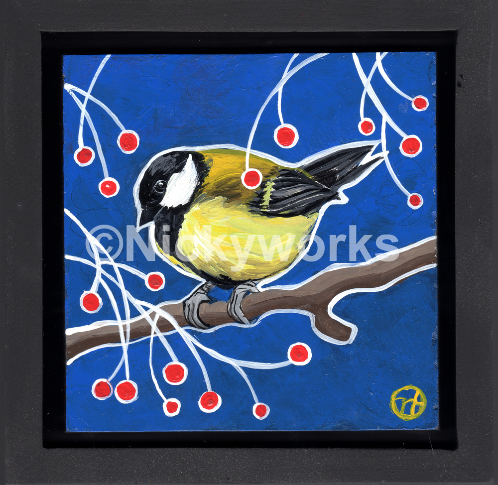Chickadee and Berries II