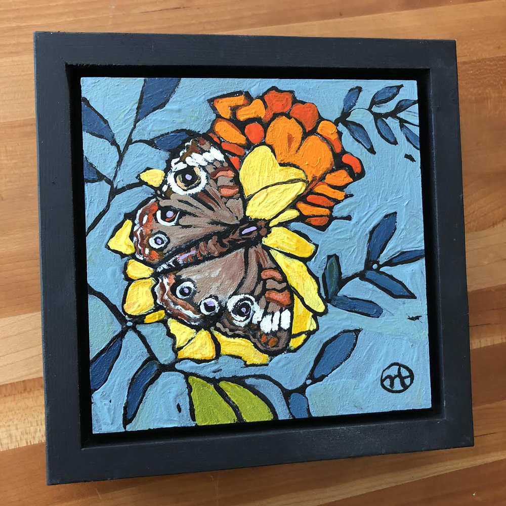 Available for $55  Based on a photo from Megan B., a talented artist at the Northrup King Building.  acrylic on wood  6.5 x 6.5 inches, 1.5 inch deep wood frame