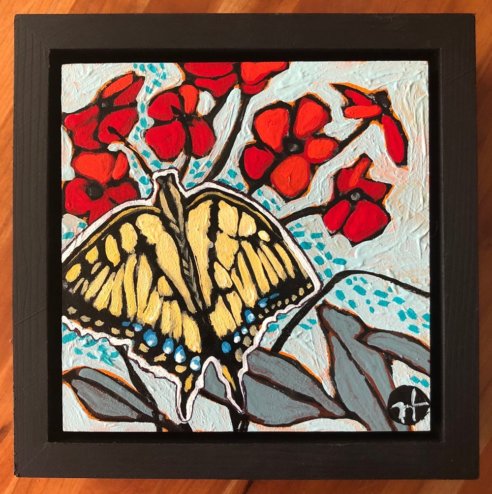 Day 18  Available for $55  acrylic on wood  6.5 x 6.5 inches, 1.5 inch deep wood frame