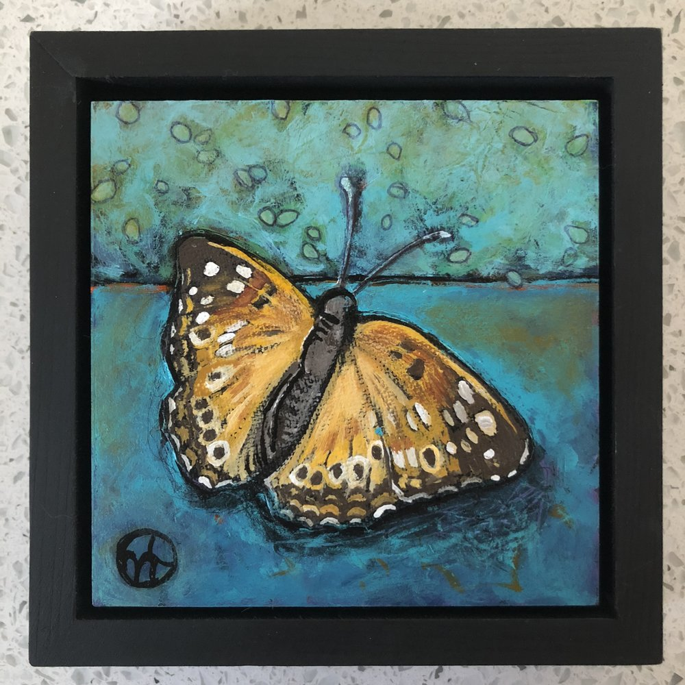 Day 20  Available for $55  acrylic on wood  6.5 x 6.5 inches, 1.5 inch deep wood frame