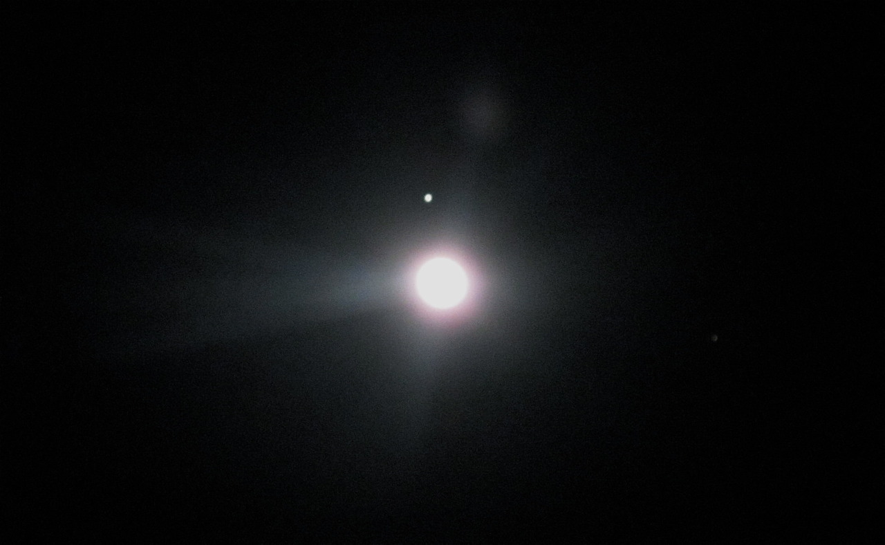 Jupiter before the Moon eclipse
