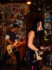 Black Haired Dalila, performing at CBGB, a piece of (MY) history. :)