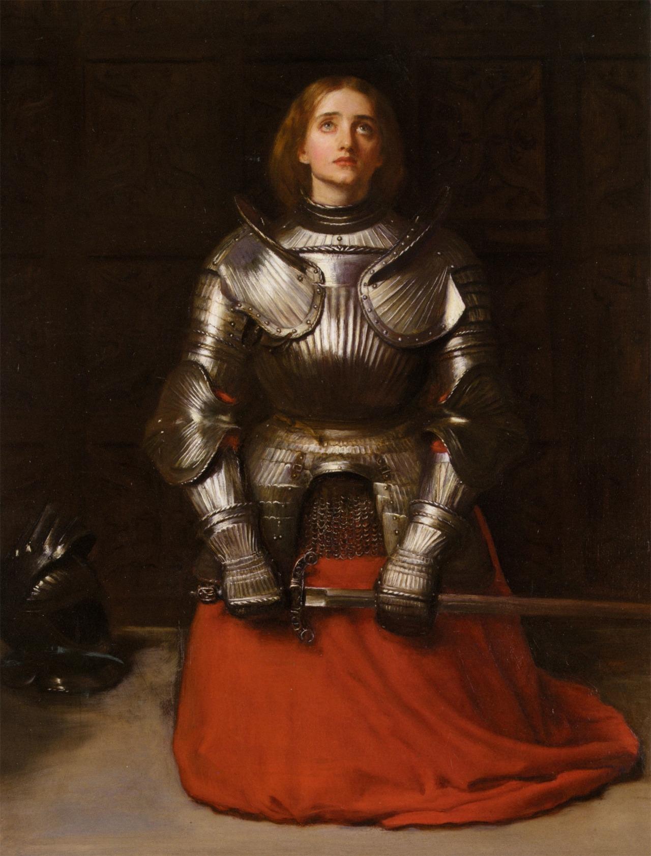 "tierradentro :     ""Joan of Arc"",  John Everett Millais ."