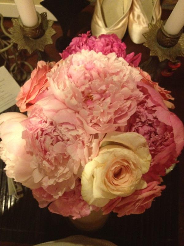 Flowers make me happy. Especially peonies.