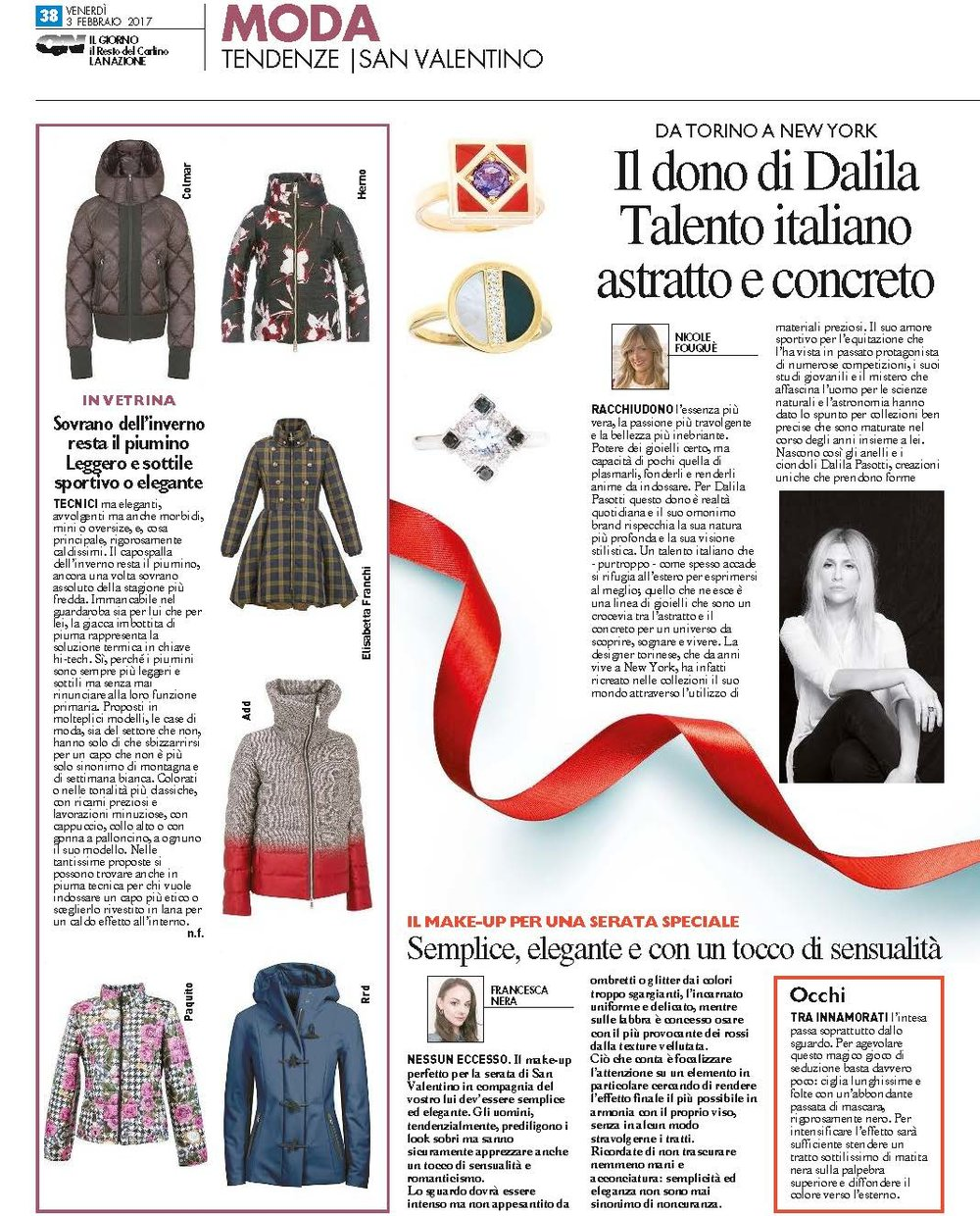 QUOTIDIANO NAZIONALE - ITALY, January 2017